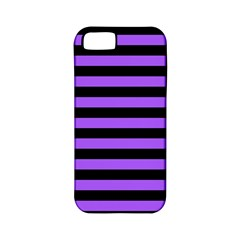 Purple Stripes Apple Iphone 5 Classic Hardshell Case (pc+silicone)