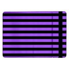 Purple Stripes Samsung Galaxy Tab Pro 12.2  Flip Case