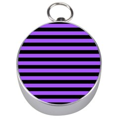 Purple Stripes Silver Compass