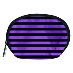 Purple Stripes Accessory Pouch (medium)