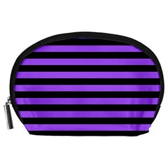 Purple Stripes Accessory Pouch (Large)