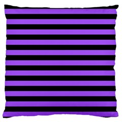 Purple Stripes Large Flano Cushion Case (one Side)