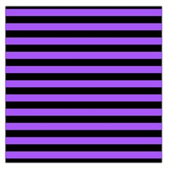 Purple Stripes Large Satin Scarf (Square)