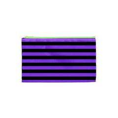 Purple Stripes Cosmetic Bag (XS)
