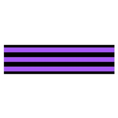 Purple Stripes Satin Scarf (Oblong)