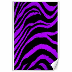 Purple Zebra Canvas 24  X 36  (unframed)