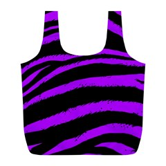 Purple Zebra Reusable Bag (l)