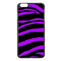 Purple Zebra Apple iPhone 6 Plus Black Enamel Case
