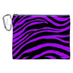 Purple Zebra Canvas Cosmetic Bag (XXL)