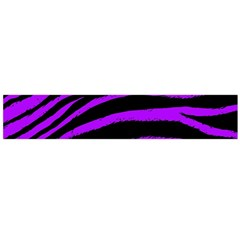 Purple Zebra Flano Scarf (large)
