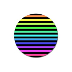 Rainbow Stripes Magnet 3  (round)