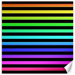 Rainbow Stripes Canvas 16  X 16  (unframed)