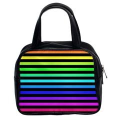 Rainbow Stripes Classic Handbag (two Sides)