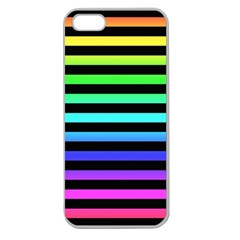 Rainbow Stripes Apple Seamless Iphone 5 Case (clear)