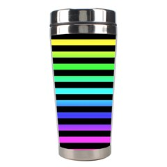 Rainbow Stripes Stainless Steel Travel Tumbler