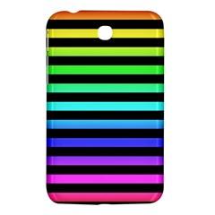 Rainbow Stripes Samsung Galaxy Tab 3 (7 ) P3200 Hardshell Case