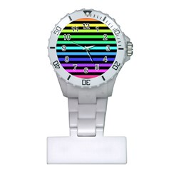 Rainbow Stripes Nurses Watch