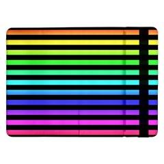 Rainbow Stripes Samsung Galaxy Tab Pro 12 2  Flip Case
