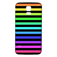 Rainbow Stripes Samsung Galaxy S5 Back Case (white)