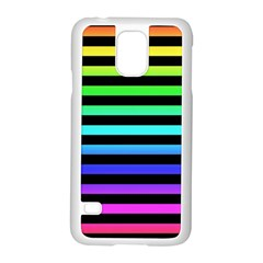Rainbow Stripes Samsung Galaxy S5 Case (White)