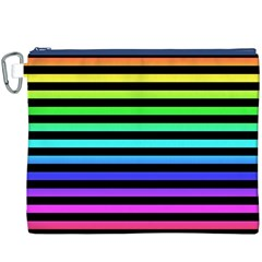 Rainbow Stripes Canvas Cosmetic Bag (XXXL)