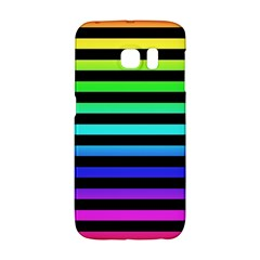 Rainbow Stripes Samsung Galaxy S6 Edge Hardshell Case