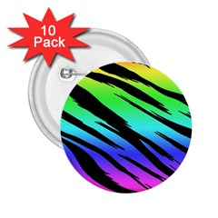 Rainbow Tiger 2 25  Button (10 Pack)