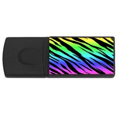 Rainbow Tiger 4gb Usb Flash Drive (rectangle)