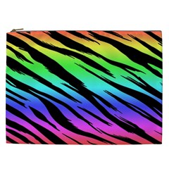 Rainbow Tiger Cosmetic Bag (xxl)