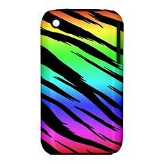 Rainbow Tiger Apple Iphone 3g/3gs Hardshell Case (pc+silicone)
