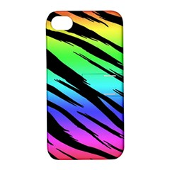 Rainbow Tiger Apple Iphone 4/4s Hardshell Case With Stand
