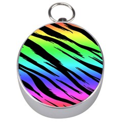 Rainbow Tiger Silver Compass