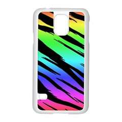 Rainbow Tiger Samsung Galaxy S5 Case (White)