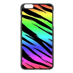 Rainbow Tiger Apple iPhone 6 Plus Black Enamel Case
