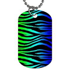 Rainbow Zebra Dog Tag (two Sided)