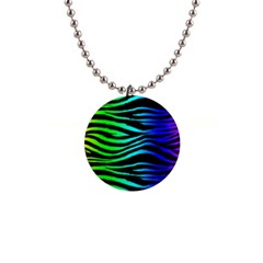 Rainbow Zebra Button Necklace