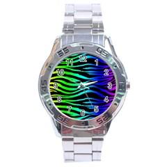 Rainbow Zebra Stainless Steel Watch
