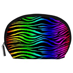 Rainbow Zebra Accessory Pouch (Large)