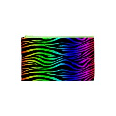 Rainbow Zebra Cosmetic Bag (xs)