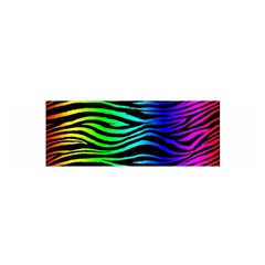 Rainbow Zebra Satin Scarf (Oblong)