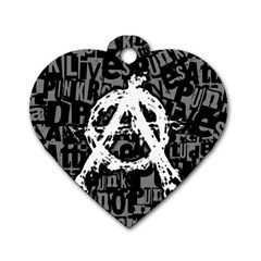 Anarchy Dog Tag Heart (two Sided)