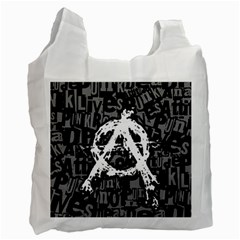 Anarchy White Reusable Bag (one Side)
