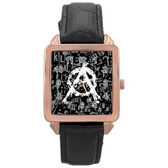 Anarchy Rose Gold Leather Watch