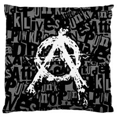 Anarchy Large Flano Cushion Case (Two Sides)