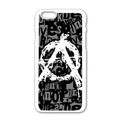 Anarchy Apple iPhone 6 White Enamel Case