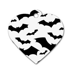 Deathrock Bats Dog Tag Heart (two Sided)