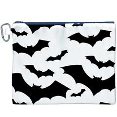 Deathrock Bats Canvas Cosmetic Bag (XXXL)