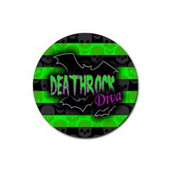 Deathrock Diva Drink Coaster (round)