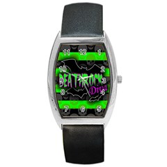 Deathrock Diva Tonneau Leather Watch