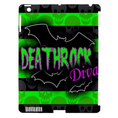 Deathrock Diva Apple Ipad 3/4 Hardshell Case (compatible With Smart Cover)